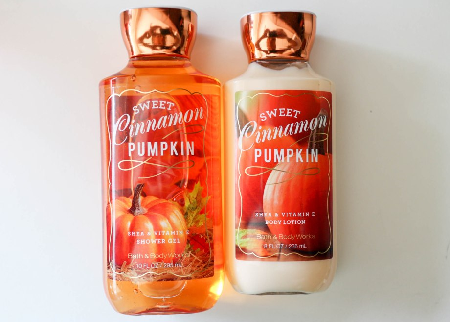 bath & body works sweet cinnamon pumpkin