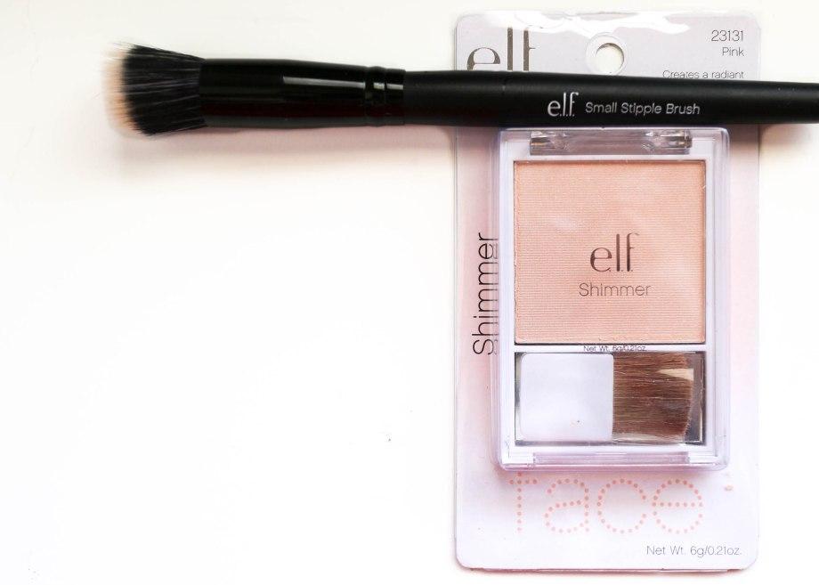 E.L.F. highlighter and stipple brush