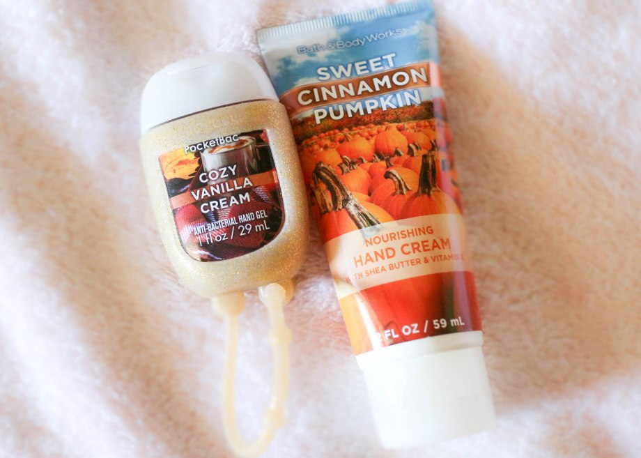 Bath and body works hand sanitizer and hand lotion