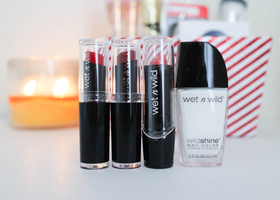 Wet n Wil Silk Finish Lipsticks, Megalast Lipsticks, Wild Shine polish