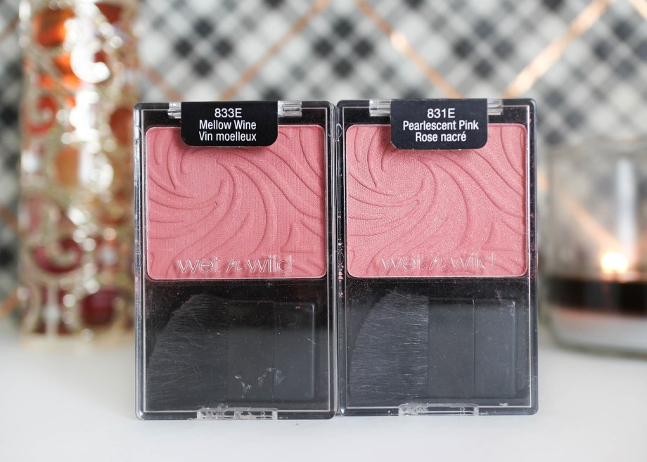 Wet n Wild Color Icon Blush Pearlescent Pink & Mellow Wine