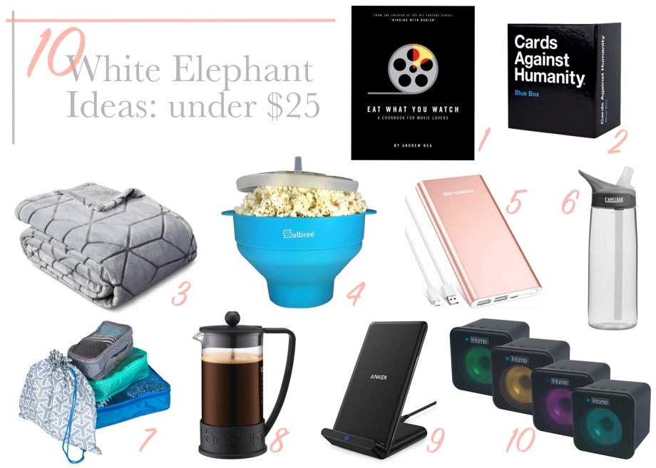 10 white elephant ideas under $25